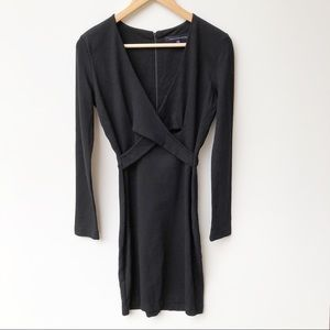 French Connection Black Long Sleeve Bodycon Dress